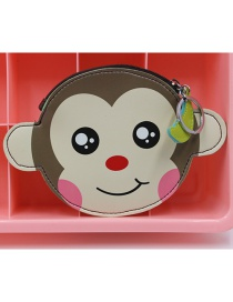 Cute Coffee Monkey Shape Decorated Coin Purse