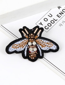 Elegant Multi-color Bee Shape Decorated Brooch