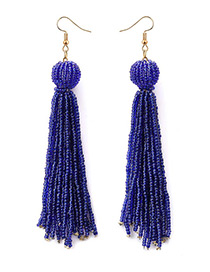 Fashion Sapphire Blue Pure Color Decorated Earrings