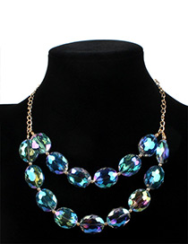 Fashion Green Ball Shape Decorated Necklace