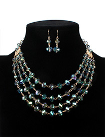 Fashion Green Ball Shape Decorated Multi-layer Jewelry Set
