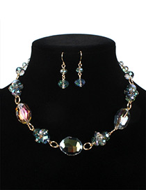 Fashion Green Ball Shape Decorated Jewelry Set