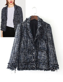 Fashion Dark Gray Pure Color Decorated Coat