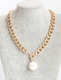 Fashion Gold Color Pearl Decorated Necklace