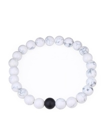 Fashion White Pure Corlor Decorated Bracelet