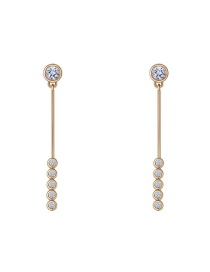 Elegant Gold Round Shape Decorated Earrings