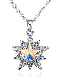Fashion Multi-color Star Shape Decorated Necklace
