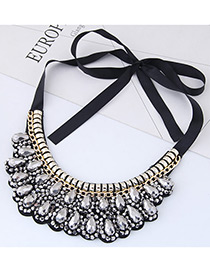 Trendy White Pure Color Decorated Collar Necklace