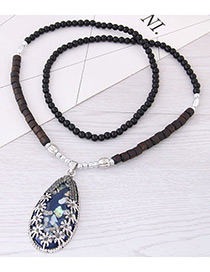 Fashion Darl Blue Shell Decorated Long Necklace