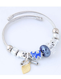 Elegant Blue Elephant Shape Decorated Bracelet