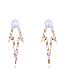 Elegant Gold Color Hollow Out Design Earrings