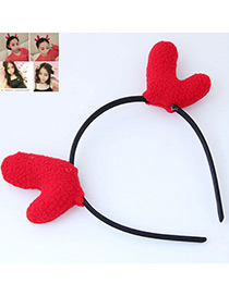Fashion Red Elk Ears Shape Decorated Headband