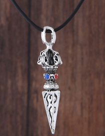 Fashion Silver Color Sword Shape Decorated Necklace