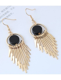 Bohemia Gold Color Tassel Decorated Earrings