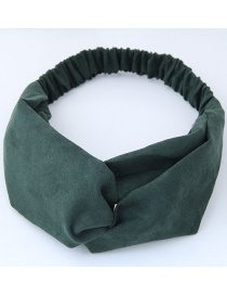 Fashion Olive Green] Pure Color Decorated Headband