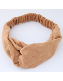 Fashion Khaki Pure Color Decorated Headband