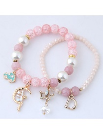 Fashion Pink Crown&carshape Decorated Bracelet