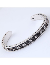 Fashion Antique Silver Star Pattern Decorated Bracelet