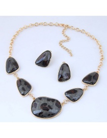 Fashion Gray Irregular Shape Decorated Jewelry Sets