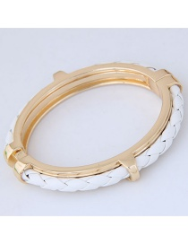 Fashion Gold Color Weaving Decorated Bracelets