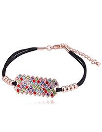 Fashion Multi-color Diamond Decorated Multi-layer Bracelet