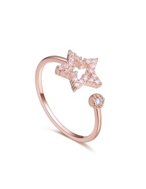 Fashion Gold Color Star Shape Decorated Open Rings