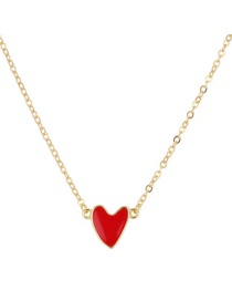 Fashion Red Heart Shape Decorated Nacklace
