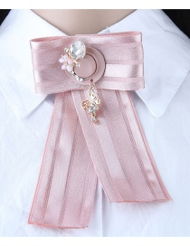 Fashion Pink Cap Shape Decorated Brooch