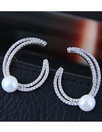 Sweet White Pearls&diamond Decorated Pure Color Earrings Reviews