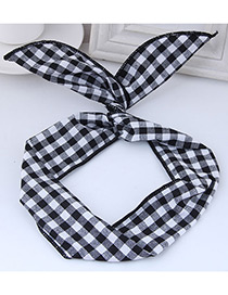 Fashion Black Square Shape Pattern Decorated Hair Band