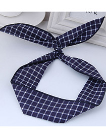 Elegant Navy Rabbit Ears Shape Decorated Hair Band