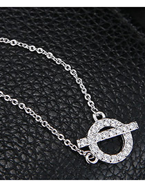 Fashion Silver Color Round Shape Decorated Necklace