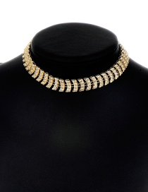 Fashion Gold Color Pure Color Decorated Arc Shape Necklace