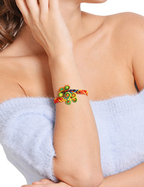 Fashion Multi-color Color Matching Decorated Hand-woven Bracelet