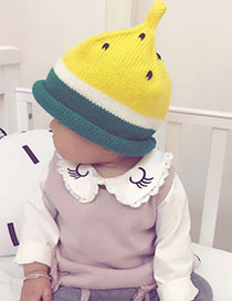 Fashion Yellow Watermelon Pattern Decorated Children's Cap