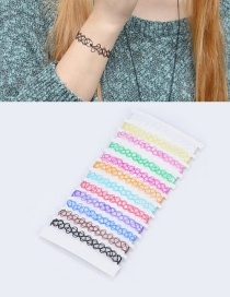 Fashion Multi-color Color Matching Decorated Bracelet Sets