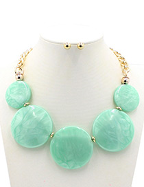 Trendy Green Round Shape Decorated Jewelry Sets
