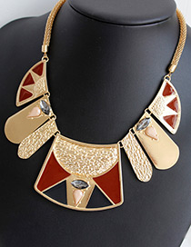 Fashion Gold Color Irregular Shape Decorated Simple Necklace