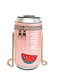 Fashion Pink Bottle Decorated Bag