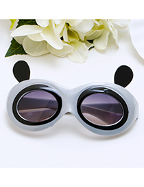 Lovely Gray Panda Shape Decorated Children Sunglasses