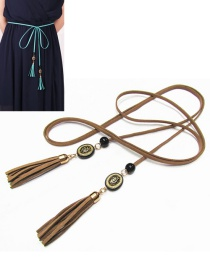 Bohemia Brown Tassel Decorated Belt