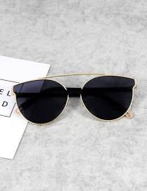 Fashion Light Black Cat Eye Shape Decorated Sunglasses