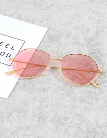 Fashion Pink Pure Color Decorated Thin Legs Sunglasses
