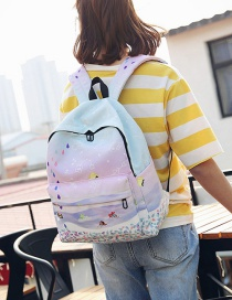 Fashion Multi-color Star Pattern Decorated Backpack