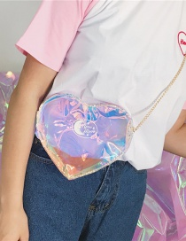 Fashion Multi-color Heart Shape Decorated Shoulder Bag