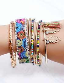 Fashion Multi-color Tassel Decorated Bracelet (8 Pcs )