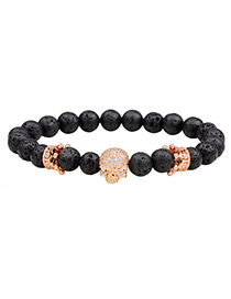 Fashion Champagne Skull Decorated Bracelet