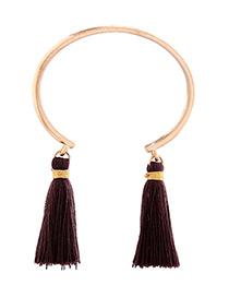 Fashion Brown Tassel Decorated Bracelet