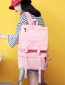 Fashion Pink Button Decorated Backpack