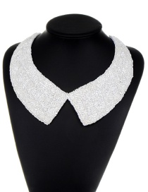 Fashion White Pure Color Decorated Choker
